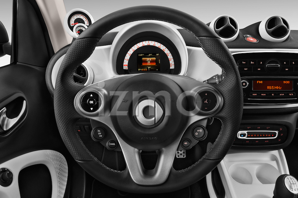 Car pictures of steering wheel view of a 2016 Smart fortwo prime 3 Door Micro Car Steering Wheel