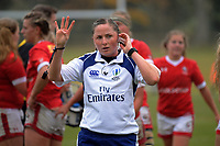 Referee Aimee Barrett-Theron during the 2017 International Women's Rugby Series rugby match between Canada and Australia Wallaroos at Smallbone Park in Rotorua, New Zealand on Saturday, 17 June 2017. Photo: Dave Lintott / lintottphoto.co.nz