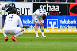 14.04.2019, PreZero Dual Arena, Sinsheim, GER, 1. FBL, TSG 1899 Hoffenheim vs. Hertha BSC Berlin, <br /> <br /> DFL REGULATIONS PROHIBIT ANY USE OF PHOTOGRAPHS AS IMAGE SEQUENCES AND/OR QUASI-VIDEO.<br /> <br /> im Bild: Frust bei Karim Rekik (Hertha BSC Berlin #4), Marvin Plattenhardt (#21, Hertha BSC Berlin)<br /> <br /> Foto &copy; nordphoto / Fabisch