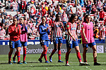 Atletico de Madrid's players during Liga Iberdrola match between Atletico de Madrid and FC Barcelona at Wanda Metropolitano Stadium in Madrid, Spain. March 17, 2019. (ALTERPHOTOS/A. Perez Meca)