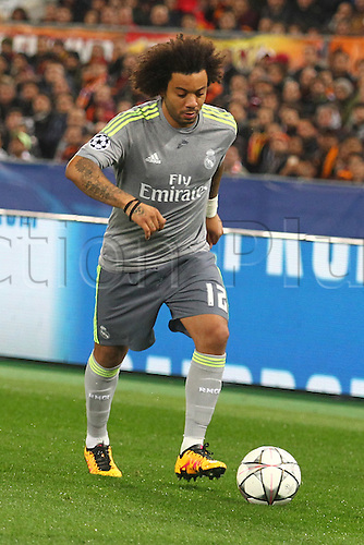 17.02.2016. Stadio Olimpico, Rome, Italy. UEFA Champions League, Round of 16 - first leg, AS Roma versus Real Madrid.  MARCELO VIEIRA DA SILVA