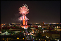 From the heart of Austin, fireworks celebrate the graduation of the 2014 class from the University of Texas. May 17, 2014
