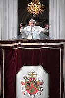 Pope Benedict XVI  Last Day as Pope,last time greeting from the balcony of residence in Castel Gandolfo on the outskirts of Rome. on February 28, 2013.