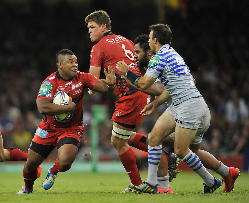 Toulon's Steffon Armitage in action during today's match <br /> <br /> Photographer Ashley Western/CameraSport<br /> <br /> Rugby Union - Heineken Cup Final - Toulon v Saracens - Saturday 24th May 2014 - Millennium Stadium - Cardiff<br /> <br /> &copy; CameraSport - 43 Linden Ave. Countesthorpe. Leicester. England. LE8 5PG - Tel: +44 (0) 116 277 4147 - admin@camerasport.com - www.camerasport.com