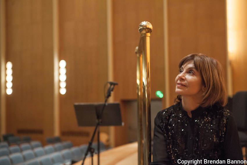 Portrait of Joann Falletta Musical Director of The Buffalo Philharmonic Orchestra since 1999. Kleinhans Music Hall, Buffalo, NY.  10/16/16. Photo by Brendan Bannon