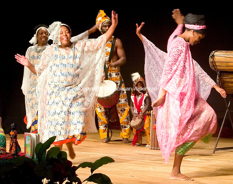 WATERBURY, CT- 30 DEC 06- 123006JT10- <br /> Alvena Watkins dances during a Sounds of Afrika Kwanzaa performance at Mattatuck Museum in Waterbury on Saturday afternoon.<br /> Josalee Thrift Republican-American