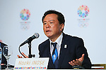 Naoki Inose, <br /> SEPTEMBER 7, 2013 : <br /> Tokyo Governor and chairman of the Tokyo 2020 Bib Committee Naoki Inose speaks during a press conference after Tokyo was announced as the winning city bid for the 2020 Summer Olympic Games at the 125th International Olympic Committee (IOC) session in Buenos Aires Argentina, on Saturday September 7, 2013. (Photo by YUTAKA/AFLO SPORT) [1040]