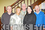 Aidan Reidy, Jean Horgan, Jerome Stack, Martina O'Donoghue and Cieran Fleming at the Kerry Drama Festival in the Ivyleaf theatre Castleisland on Sunday night ..