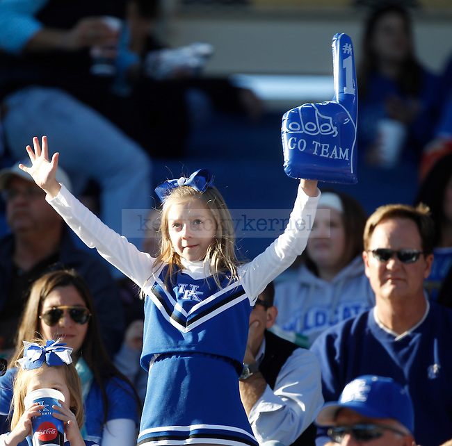 A young fan during the first half of the University of Kentucky football game against Ole Miss at Commonwealth Stadium in Lexington, Ky., on 11/5/11. Uk led at half 10-6. Photo by Mike Weaver | Staff