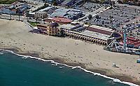 aerial photograph Beach Boardwalk Santa Cruz, California