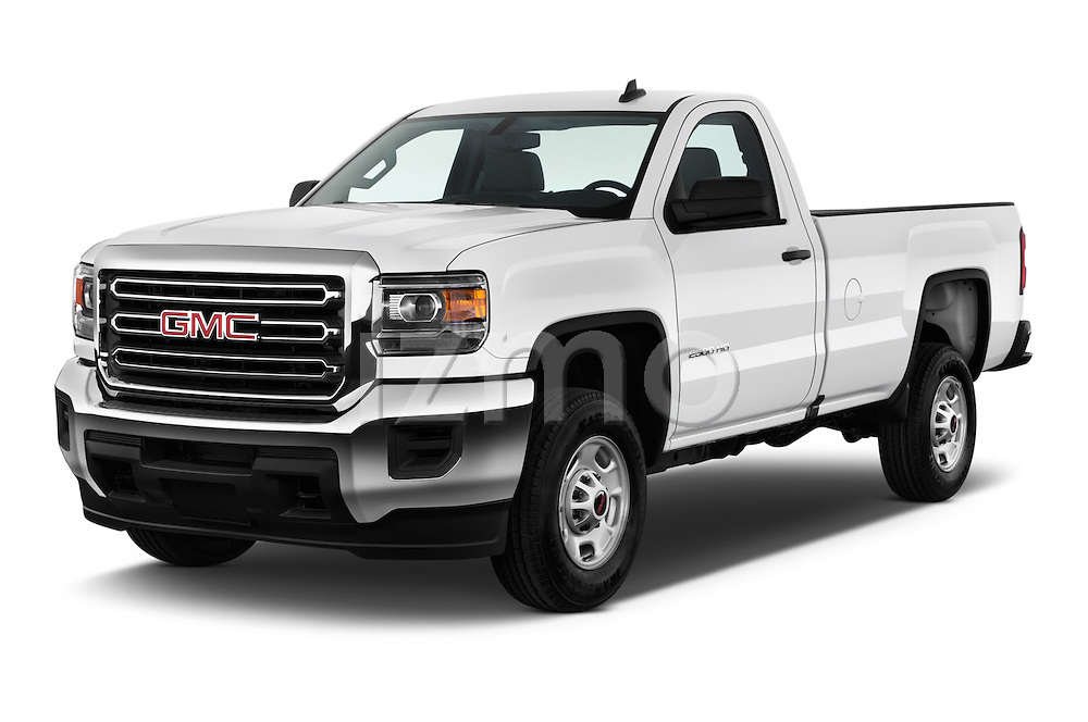 2016 GMC Sierra-2500HD 2WD-Regular-Cab-Long-Box 2 Door Pick-up Angular Front stock photos of front three quarter view