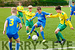 Fintan O'Sullivan, left and Jake Hoare, for Kerry put Eoghan Murphy, Cobh Ramblers under pressure during the U13 game between the sides last Saturday at MountHawk park, Tralee.