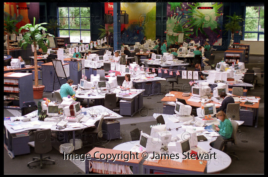 24th June 98     Copyright Pic : James Stewart   .THOMAS COOK CALL CENTRE, FALKIRK...... .Payments to :-.James Stewart Photo Agency, Stewart House, Stewart Road, Falkirk. FK2 7AS      Vat Reg No. 607 6932 25.Office : 01324 630007        Mobile : 0421 416997.If you require further information then contact Jim Stewart on any of the numbers above.........