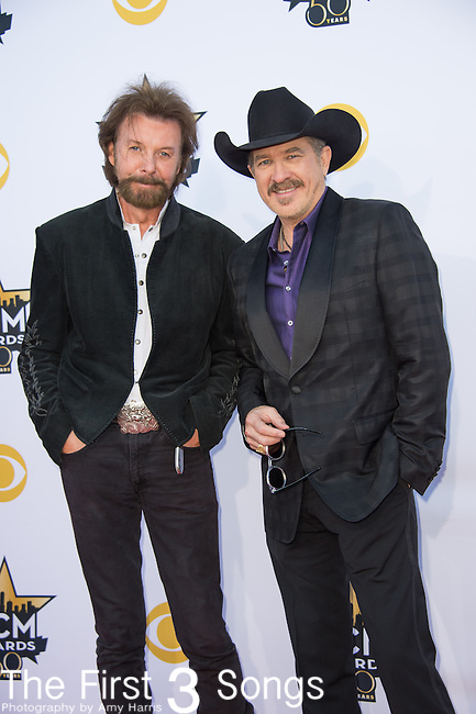 Ronnie Dunn and Kix Brooks of Brooks & Dunn attend the 50th Academy Of Country Music Awards at AT&T Stadium on April 19, 2015 in Arlington, Texas.