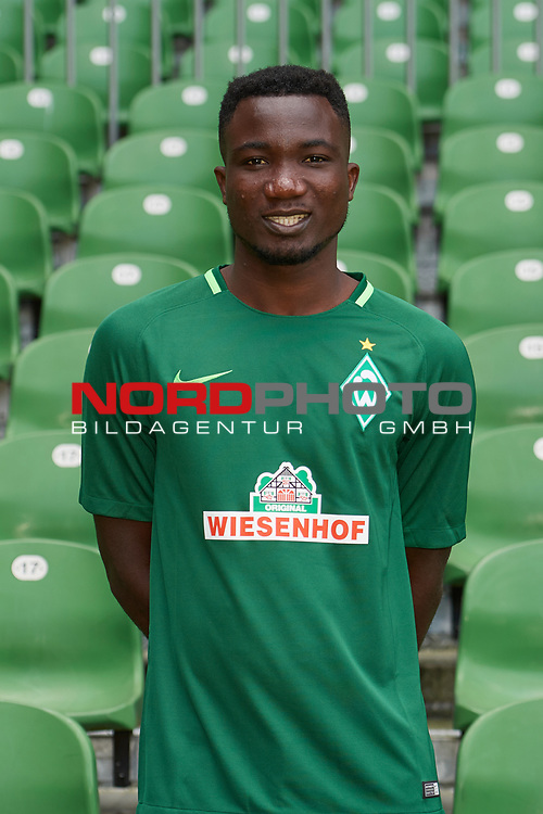 Fu&szlig;ball, GER, /3.Liga, Portr&auml;ttermin 2017/2018,<br /> <br /> Jonah Osabutey (Werder Bremen U23 #37)<br /> <br /> Foto &copy; nordphoto / Kokenge