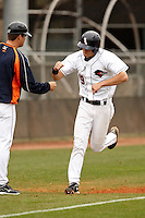 SAN ANTONIO, TX - FEBRUARY 20, 2010: The Houston Baptist University Huskies vs. The University of Texas at San Antonio Roadrunners Baseball at  Roadrunner Field. (Photo by Jeff Huehn)