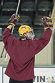 Kris Chucko - The University of Minnesota Golden Gophers took part in their morning skate at Ralph Engelstad Arena in Grand Forks, North Dakota, on Saturday, December 10, 2005.