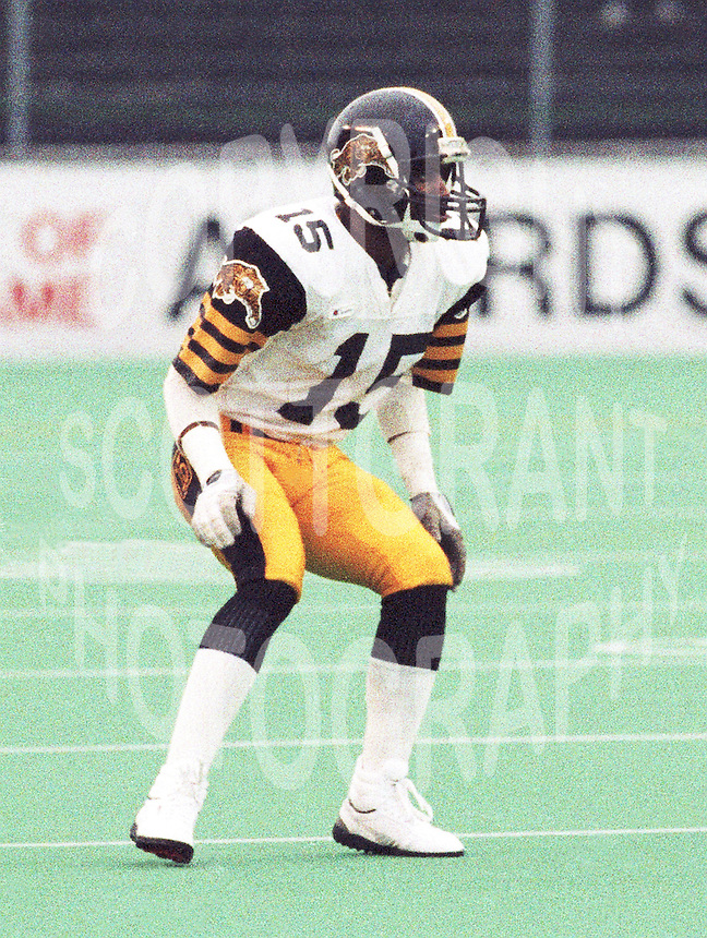 Less Browne HamiltonTiger Cats 1987. Copyright photograph Scott Grant