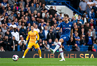 Andreas Christensen of Chelsea during the Premier League match between Chelsea and Liverpool at Stamford Bridge, London, England on 22 September 2019. Photo by Liam McAvoy / PRiME Media Images.