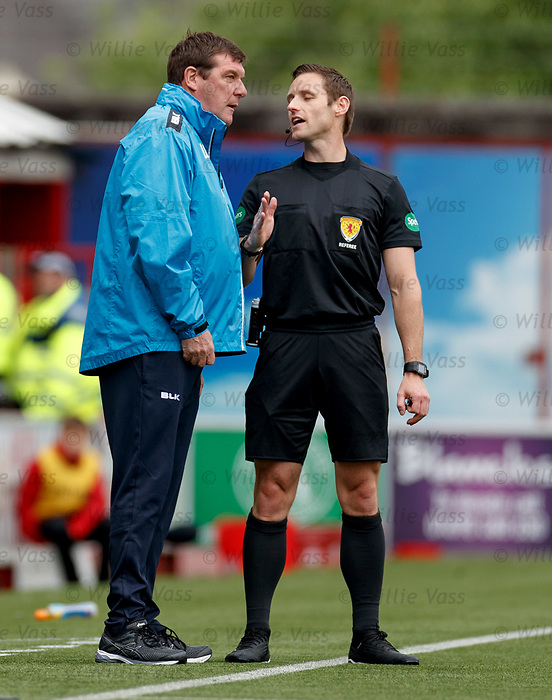 18.05.2019 Hamilton v St Johnstone: Tommy Wright and Steven McLean