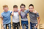 Enjoying the KDYS County Disco at the  Brandon Hotel on Friday were Eoin Lyon, Connor Grainey, Dan Curtin, Tadhg O'Connor