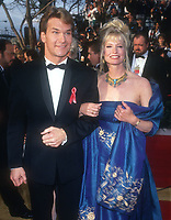 Patrick Swayze and wife Lisa <br /> 1992<br /> Photo By Michael Ferguson/CelebrityArchaeology.com<br /> <br /> http://CelebrityArchaeology.com