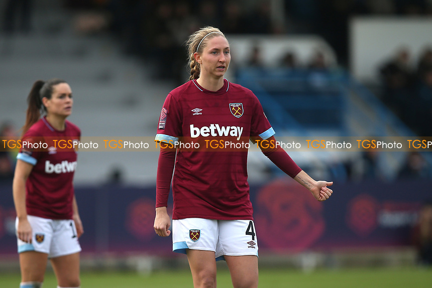 Brooke Hendrix of West Ham during West Ham United Women vs Arsenal Women, FA Women's Super League Football at Rush Green Stadium on 6th January 2019