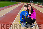 Castleisland runner Laura Fitzgerald with her son Joey who is running 180km during February to help raise funds for the Mater Hospital