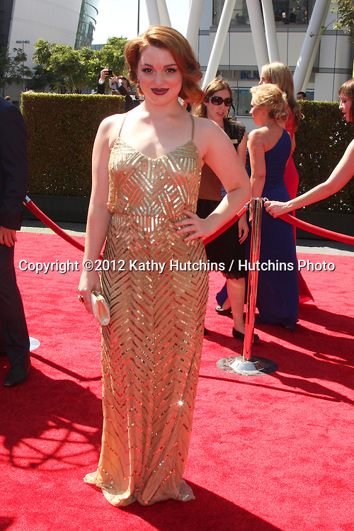 LOS ANGELES - SEP 15:  Jennifer Stone arrives at the  Primetime Creative Emmys 2012 at Nokia Theater on September 15, 2012 in Los Angeles, CA
