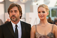 Jennifer Lawrence, Javier Bardem at the &quot;Mother!&quot; premiere, 74th Venice Film Festival in Italy on 5 September 2017.<br /> <br /> Photo: Kristina Afanasyeva/Featureflash/SilverHub<br /> 0208 004 5359<br /> sales@silverhubmedia.com