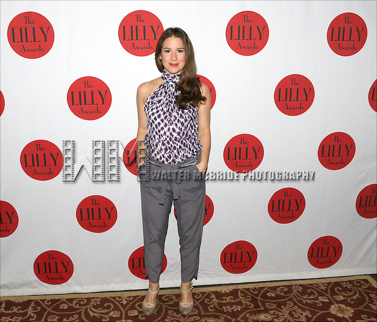 Chilina Kennedy backstage at The Lilly Awards Broadway Cabaret'   at The Cutting Room on November 9, 2015 in New York City.