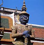 Bangkok Grand Palace statue. Bangkok, Thailand