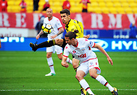 Dario Vidosic in action during the A-League football match between Wellington Phoenix and Adelaide United FC at Westpac Stadium in Wellington, New Zealand on Sunday, 8 October 2017. Photo: Dave Lintott / lintottphoto.co.nz