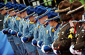 State Troopers from Washington State attend the 32nd Annual National Peace Officers' Memorial Service at the West Front Lawn of the U.S. Capitol May 15, 2013 in Washington, DC. Obama attended the annual event to honor law enforcement who were killed in the line of duty in the previous year..Credit: Olivier Douliery / Pool via CNP