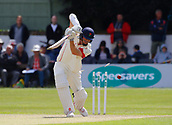 June 11th 2017, Trafalgar Road Ground, Southport, England; Specsavers County Championship Division One; Day Three; Lancashire versus Middlesex; Ryan McLaren of Lancashire is bowled by Tim Murtagh for 75