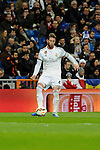 Real Madrid´s Sergio Ramos during 2014-15 La Liga match between Real Madrid and Levante UD at Santiago Bernabeu stadium in Madrid, Spain. March 15, 2015. (ALTERPHOTOS/Luis Fernandez)