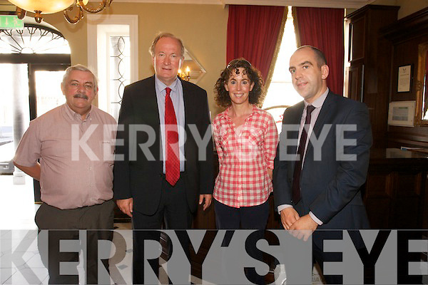 Sean Lyons, Tralee Mayor  Jim Finucane, Mags O'Sullivan, Mike Quinn( Shaws Tralee Manager) at the Tralee Mayor's monthly lunch meeting at the Imperial Hotel on Friday