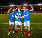 25.04.2019 Celtic v Rangers youth cup final: Rangers goalscorers Dapo Mebude, Nathan Young-Coombes and Ciaran Dickson