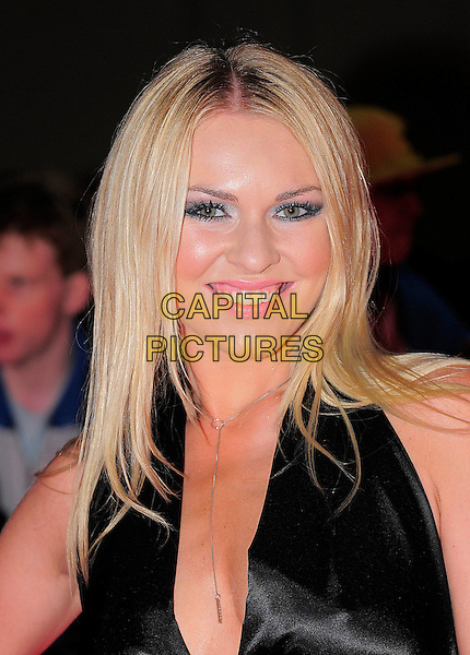 ZOE SALMON.The Pride of Britain Awards, Grosvenor House, Hotel, Park lane, London, England. .October 5th, 2009.headshot portrait black halterneck cleavage smiling silver necklace .CAP/BEL.©Tom Belcher/Capital Pictures.