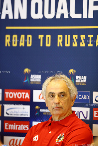 &Eacute;&icirc;&Eacute;@&Eacute;q&Eacute;h&Aring;E&Eacute;n&Eacute;&auml;&Eacute;&atilde;&Eacute;z&Eacute;W&Eacute;b&Eacute;` &auml;&fnof;&igrave;&not;/Vahid Halilhodzic (JPN),<br /> MARCH 22, 2017 - Football / Soccer :<br /> Japan's head coach Vahid Halilhodzic talks during the press conference at Hazza Bin Zayed Stadium in Al Ain, United Arab Emirates ahead of the FIFA World Cup Russia 2018 Asian Qualifiers Final Round match against the United Arab Emirates. (Photo by Kenzaburo Matsuoka/AFLO)