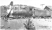 Fireman's-side view of C&amp;S #6 at Dillon.<br /> C&amp;S  Dillon, CO  1936