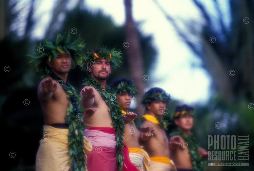 Robert Cazimero's halau dancing hula at Lanikuhonua on O'ahu