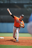 Baltimore Orioles pitcher Cody Sedlock (70) delivers a pitch during a Florida Instructional League game against the Tampa Bay Rays on October 1, 2018 at the Charlotte Sports Park in Port Charlotte, Florida.  (Mike Janes/Four Seam Images)