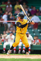 Jacksonville Suns catcher Sharif Othman (6) at bat during the 20th Annual Rickwood Classic Game against the Birmingham Barons on May 27, 2015 at Rickwood Field in Birmingham, Alabama.  Jacksonville defeated Birmingham by the score of 8-2 at the countries oldest ballpark, Rickwood opened in 1910 and has been most notably the home of the Birmingham Barons of the Southern League and Birmingham Black Barons of the Negro League.  (Mike Janes/Four Seam Images)