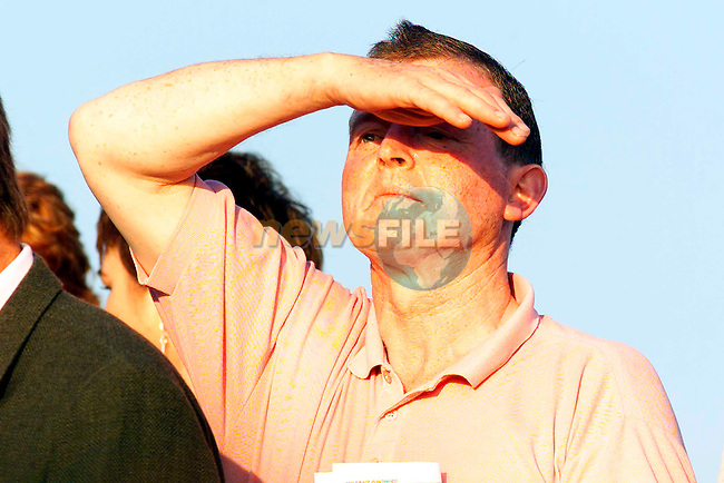 An onlookeer at the Bellewstown Races on Thursday..Picture: Paul Mohan/Newsfile