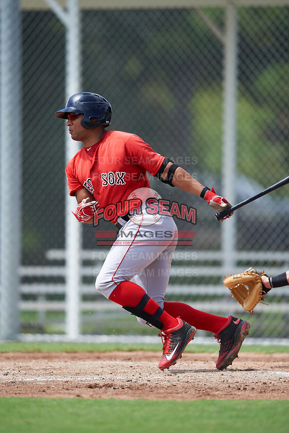 Boston Red Sox Tyler Hill (46) during an Instructional League game against the Minnesota Twins on September 24, 2016 at CenturyLink Sports Complex in Fort Myers, Florida.  (Mike Janes/Four Seam Images)