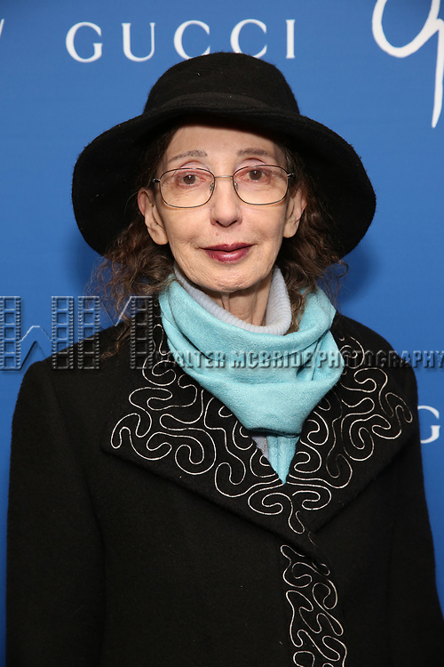 """Joyce Carol Oates attends the Opening Night Performance of """"Gloria: A Life"""" on October 18, 2018 at the Daryl Roth Theatre in New York City."""
