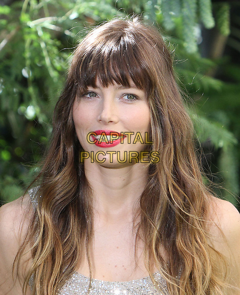"""Jessica Biel.""""Total Recall"""" - Los Angeles Photo Call Held at The Four Seasons Hotel, Beverly Hills, California, USA, 28th July 2012..portrait headshot fringe red lipstick make-up  smiling beauty .CAP/ADM/KB.©Kevan Brooks/AdMedia/Capital Pictures."""