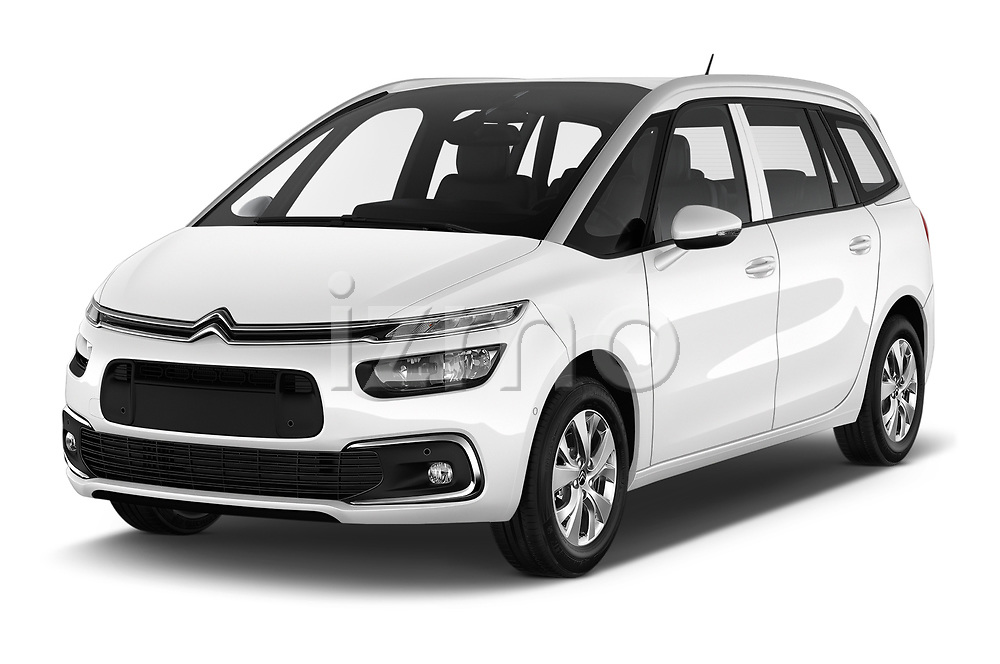 2018 Citroen Grand C4 Spacetourer Feel 5 Door MPV angular front stock photos of front three quarter view