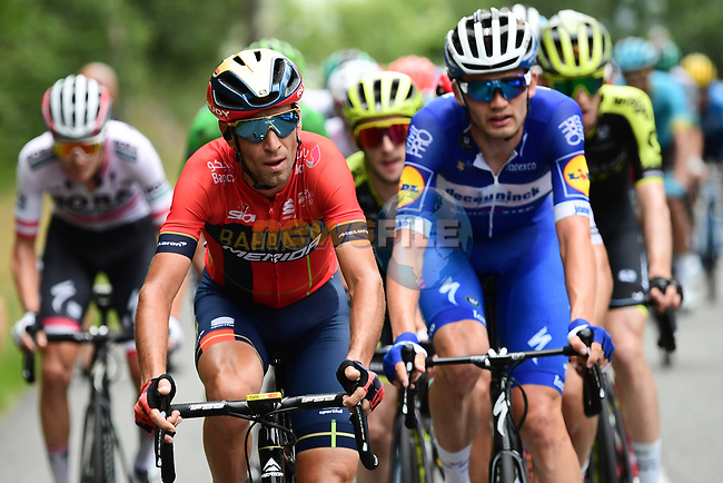 Vincenzo Nibali (ITA) Bahrain-Merida part of the 34 man breakaway that eventually formed after an hour of constant attacking during Stage 15 of the 2019 Tour de France running 185km from Limoux to Foix Prat d'Albis, France. 20th July 2019.<br /> Picture: ASO/Alex Broadway | Cyclefile<br /> All photos usage must carry mandatory copyright credit (© Cyclefile | ASO/Alex Broadway)